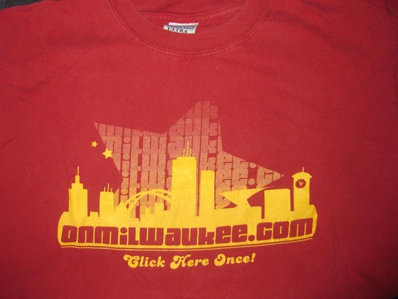 I'm biased, but I think this old-school OnMilwaukee.com T-shirt is fab.