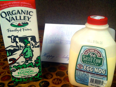 Take the Milwaukee challenge: Organic Valley vs. Sassy Cow egg nogs