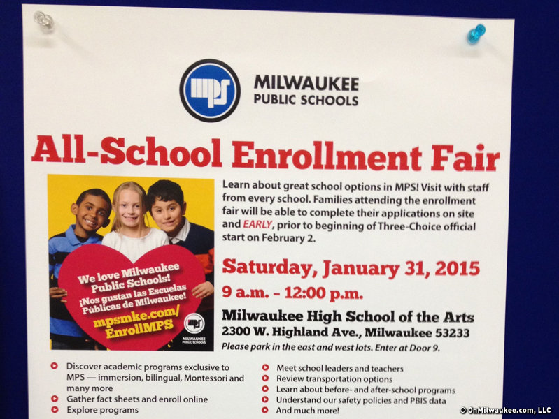 MPS hosts its annual enrollment fair this weekend at Milwaukee High School of the Arts.