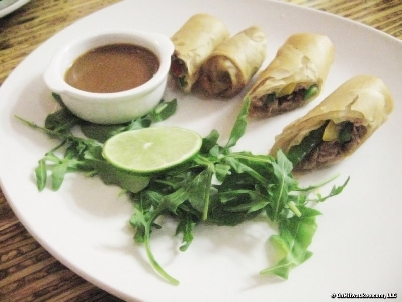 The duck confit spring rolls, one of Odd Duck's small plate offerings.