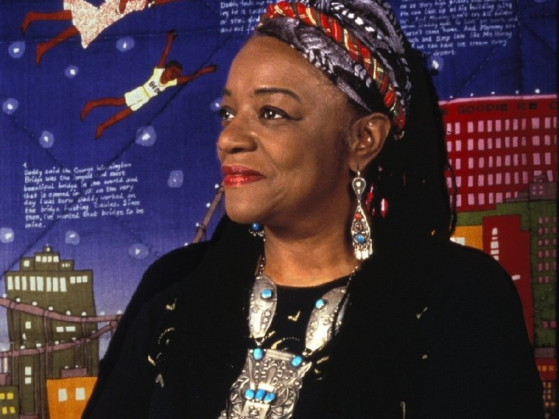 "Twenty pieces of Faith Ringgold's artwork are currently on display as a part of the ""Stories Shared"" exhibit at Arts @ Large."