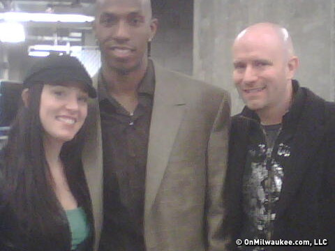 Clippers guard Chauncey Billups, the author and his wife.