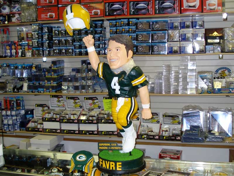 172ee8537c8 Retailers are selling out their supplies of Brett Favre memorabilia.