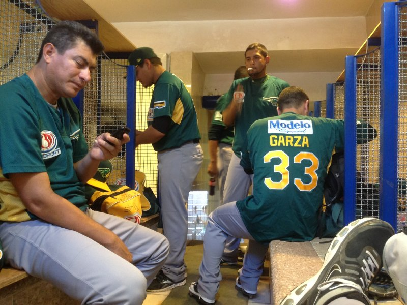 Inside the Mexican League clubhouse ...