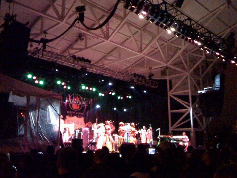 Femi Kuti played to a solid yet slim crowd tonight at Summerfest.