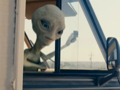 Title alien Paul hits the road in this new Pegg/Frost comedy.