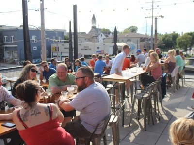 Take a look at the new rooftop patio at Good City Brewing, which opened today