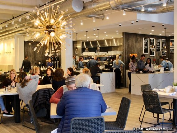 The Dining Room At Sweet Diner Is Bright And Chic