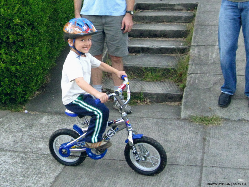 Learning to ride without training wheels can be fun and rewarding.