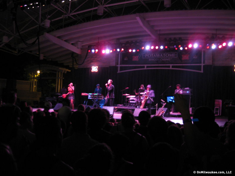 Indie soul group Fitz and the Tantrums brought an infectiously energetic and sultry set to the Potawatomi Bingo Casino Stage.