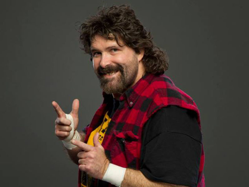 Former wrestler and author Mick Foley will be on stage at the Miramar Theatre on Sunday night.