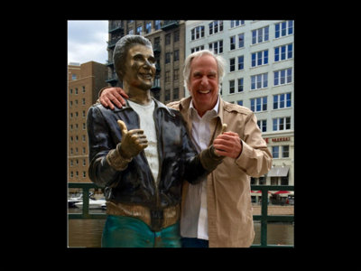 The Fonz visits The Fonz