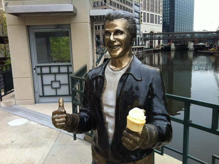 Even Fonzie's getting in on the action. (Photo: Milwaukee Food Tours)