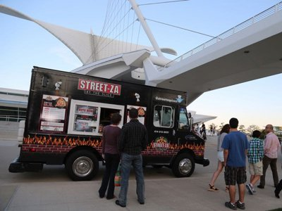 Food trucks in the winter Image