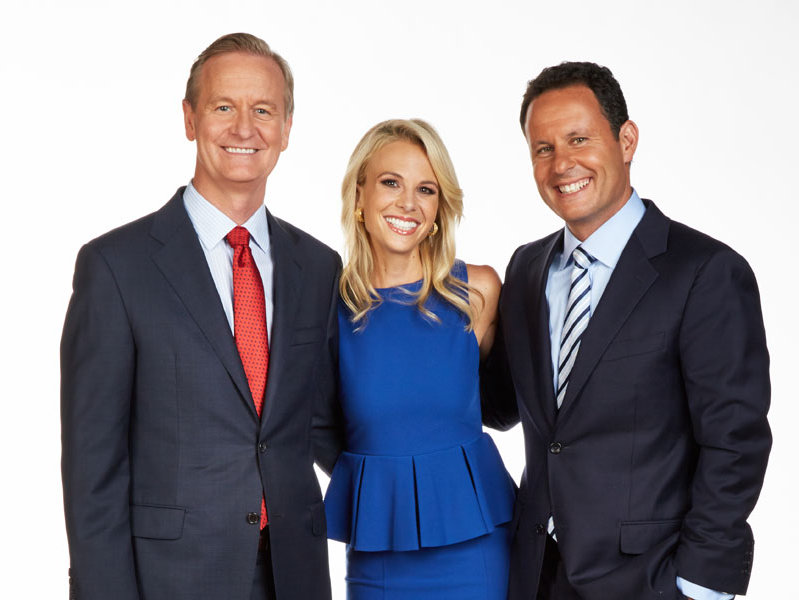 "Elisabeth Hasselbeck joins Steve Doocy and Brian Kilmeade on Fox News Channel's ""Fox & Friends"" on Monday."