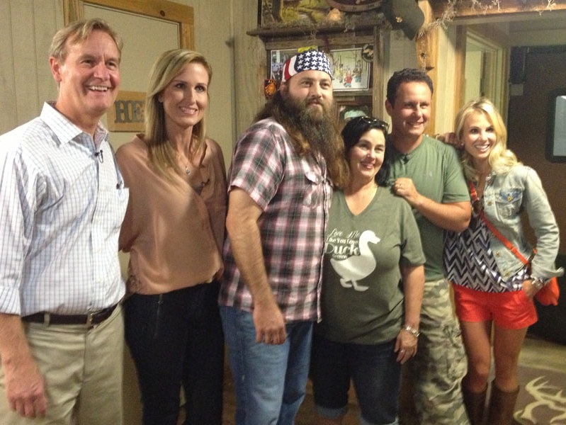 "The new morning team on ""Fox & Friends"" spent some time with the cast of ""Duck Dynasty."""