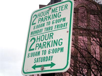 Meter Parking Sign