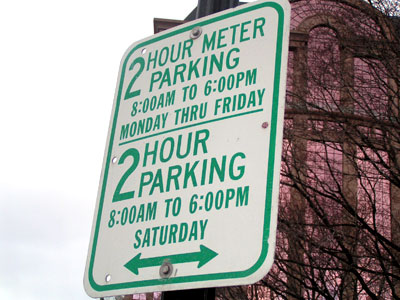 2 Hour Parking On Saturdays So Dont Feed The Meters