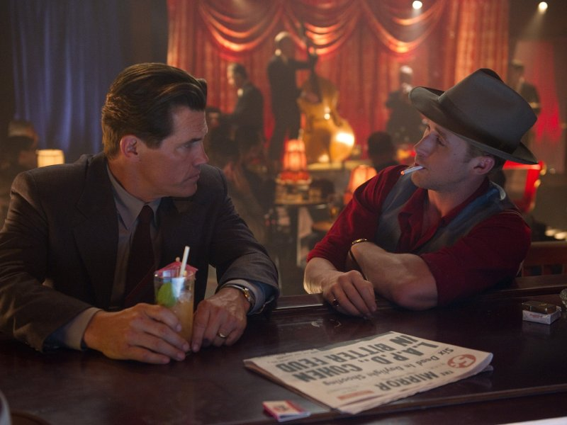"Josh Brolin and Ryan Gosling in ""Gangster Squad,"" in theaters now."