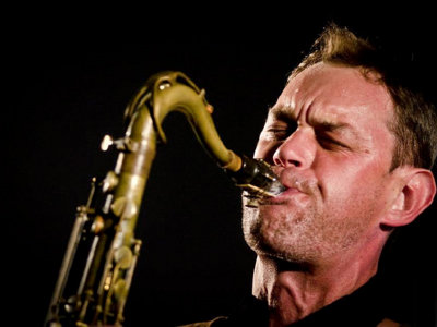 Aaron Gardner on sax