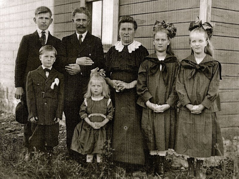 George Cordak's family in Clymer, Pa., circa 1918. My mother is the youngest child.