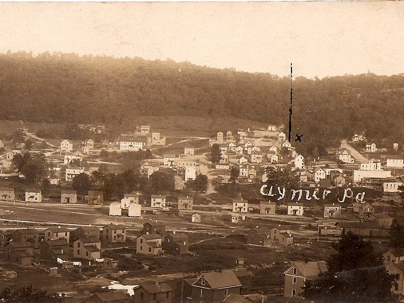 Clymer, Pa., around the time my grandfather settled there in the early 1900s.