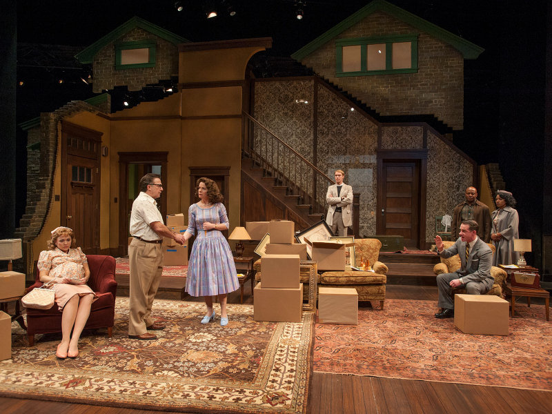 "The cast of ""Clybourne Park"" in Act 1 of Milwaukee Repertory Theater's 2012-13 production of ""Clybourne Park."""