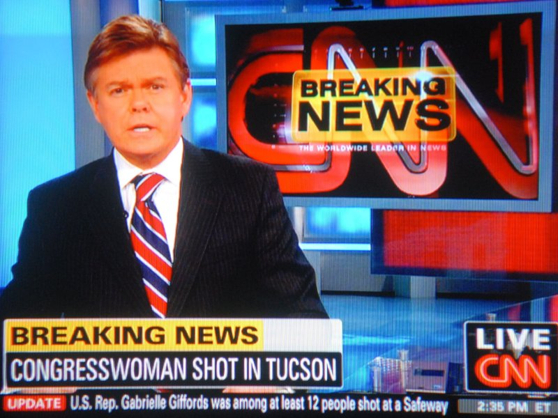 CNN first reported Giffords dead, then pulled back.