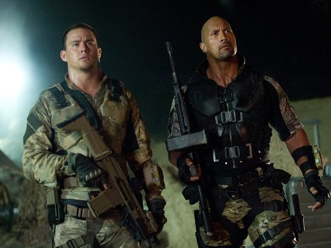 "Channing Tatum and The Rock star in the mind-numbing ""G.I. Joe: Retaliation,"" now playing."