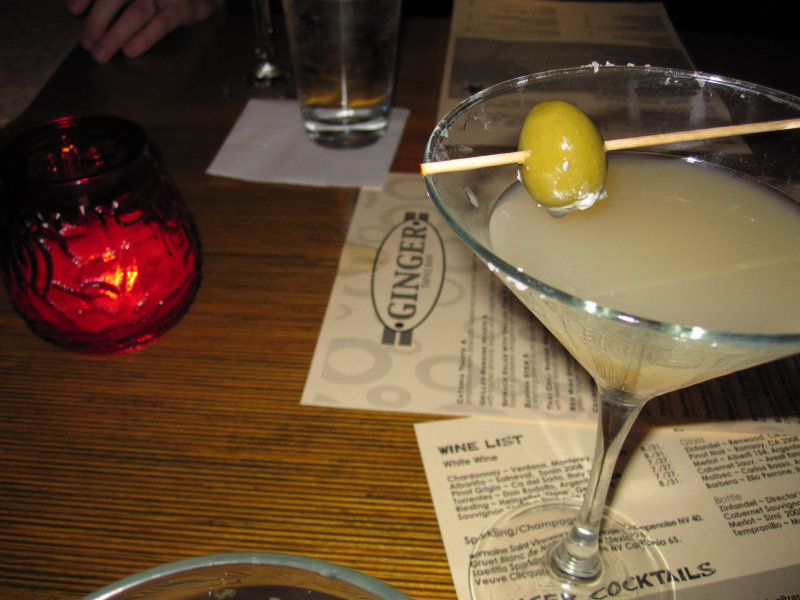 Ginger's pepper infused martini is a spicy treat.