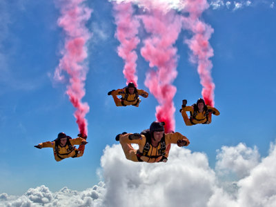 Air show skydiving