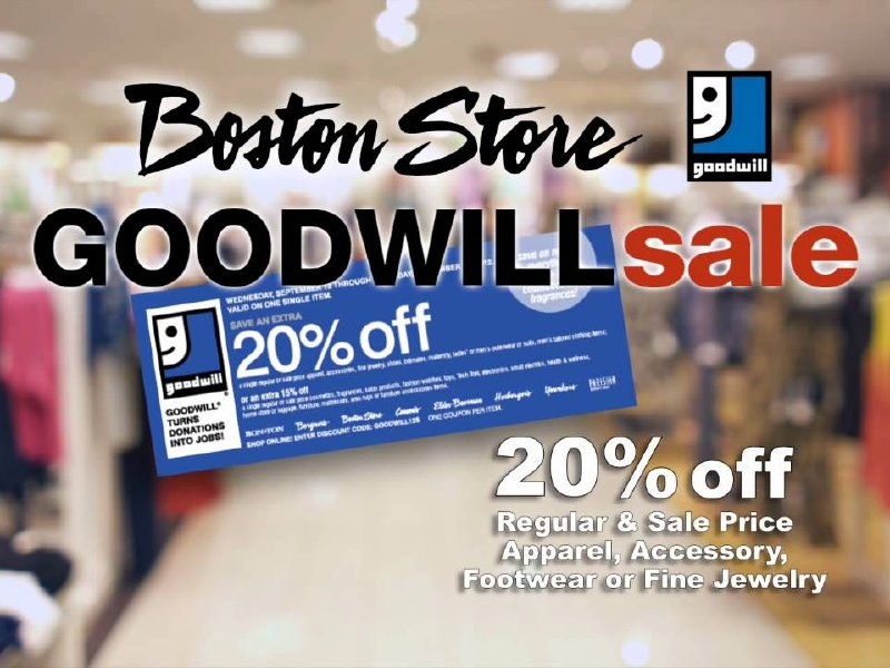 Goodwill Sale Returns To Boston Store For The 20th Year On Sept 17