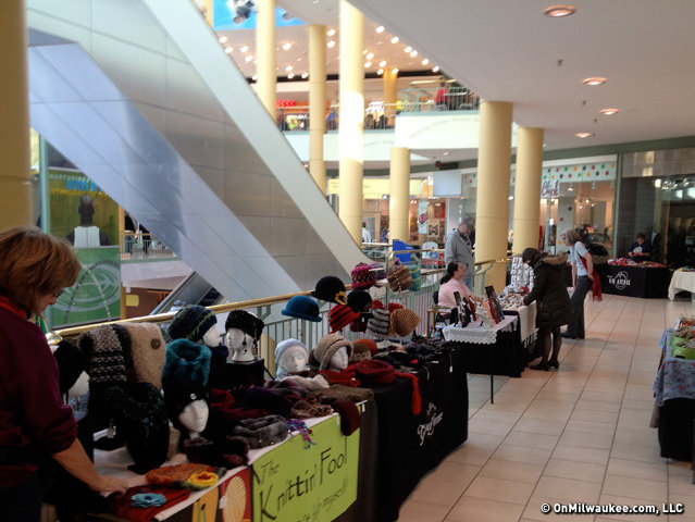 The Westown Wednesday indoor market drew vendors and browsers.