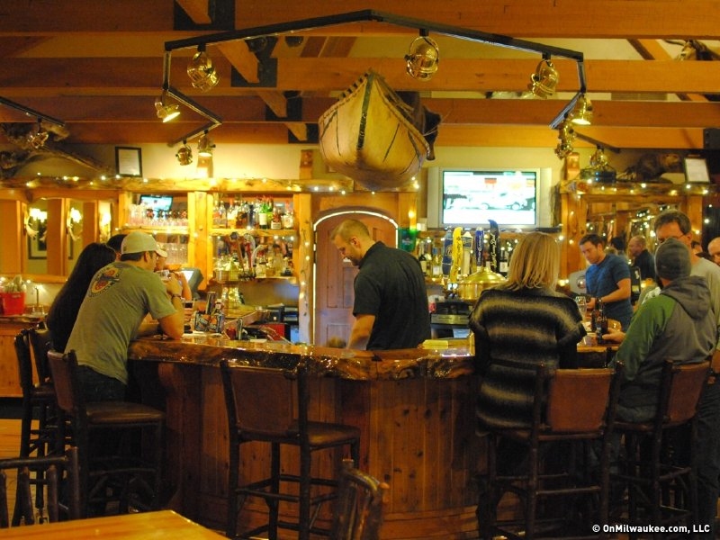 The bar and restaurant offers a fun, Up North-y environment.