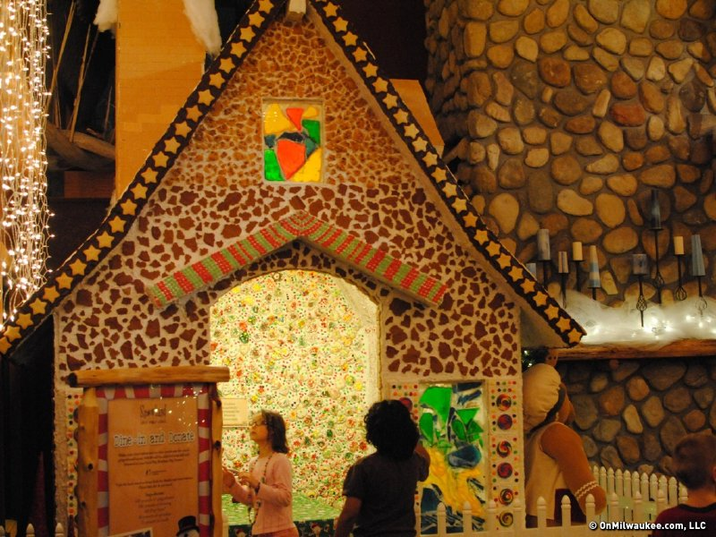 The real gingerbread house is amazing.