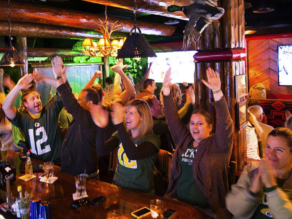 Camp Bar will be packed for the opening game of the Green Bay Packers. But -- don't worry -- bring a chair and watch on the jumbo tron outside!