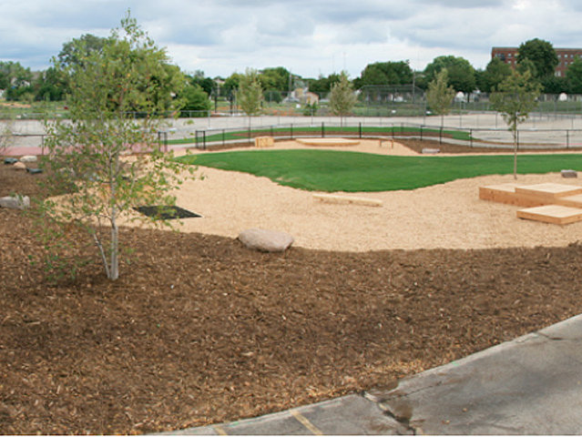 Brown Street Academy's green playground is a finalist for an award.
