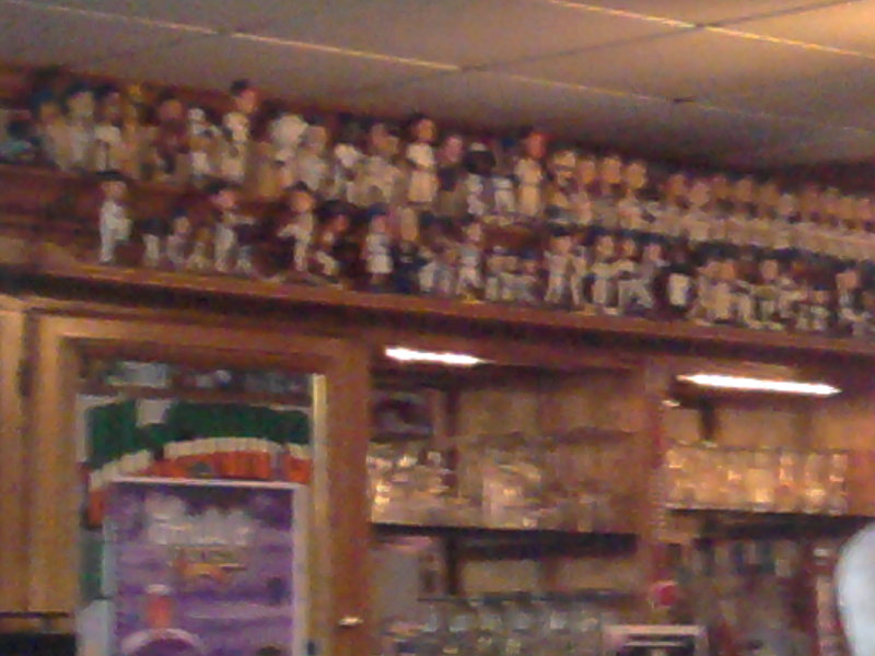 McGinn's has a serious bobblehead collection.