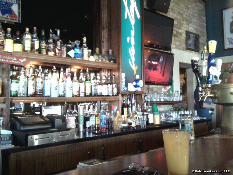 The wall-mounted TVs and broad liquor selection are some of Vintage's more modern conveniences.