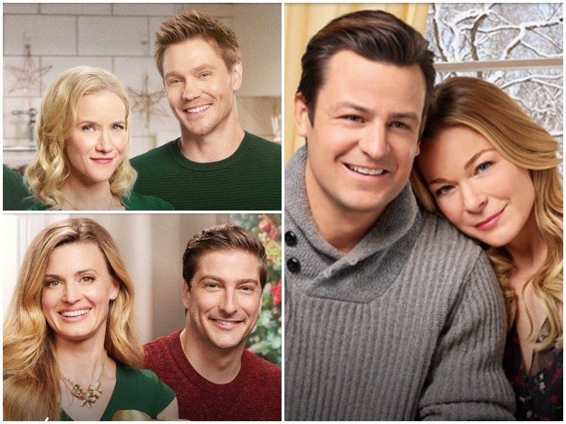 again it may be hard to believe but these are three different movies - Hallmark Christmas Movie List