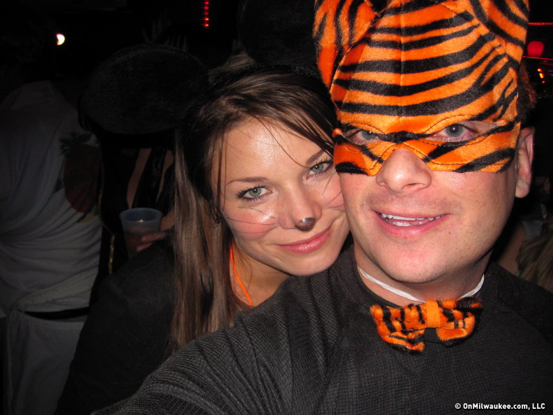 The author and her boyfriend on a Halloween pub crawl.
