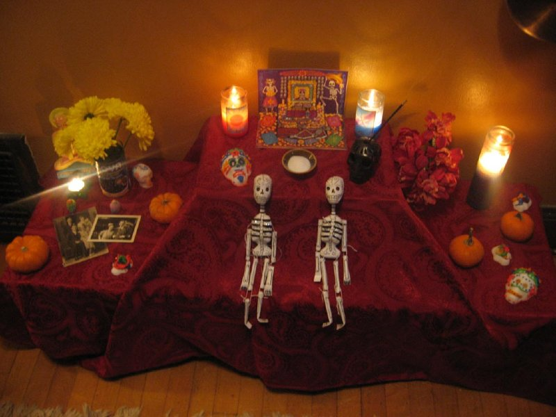 My family's Day of the Dead altar.