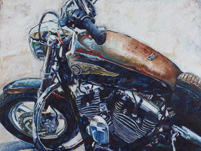 Harley artist Hintz creates cool on canvas