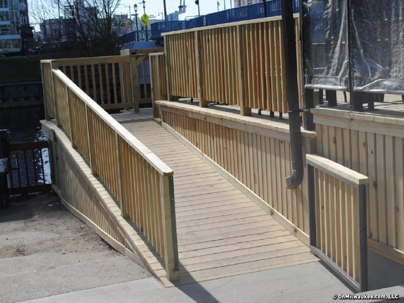 The newly constructed ramp.