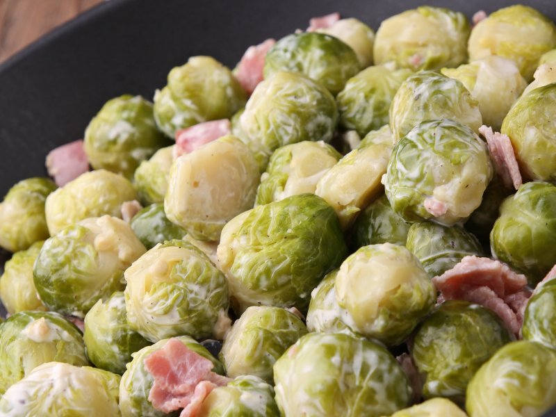 Shake up the usual Brussels sprouts/bacon combo with Chef Thomas Hauck's recipe.