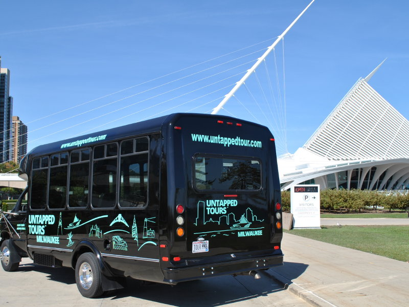 Untapped Tours has its own 11-person minibus for round-trip transportation.