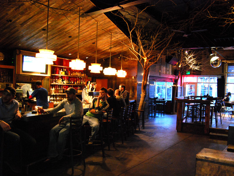 Co-owner Scott Johnson used his supply of reclaimed wood ... - The Hi-Hat Lounge Gets A New Garage - OnMilwaukee