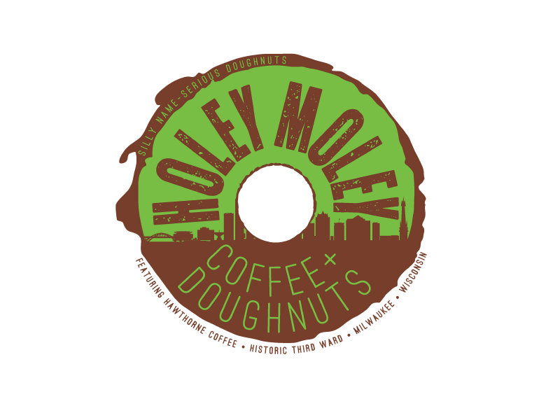 holey moley coffee and doughnuts will feature unique treats paired with delicious local coffee from hawthorne coffee roasters - Donut Shop Coffee