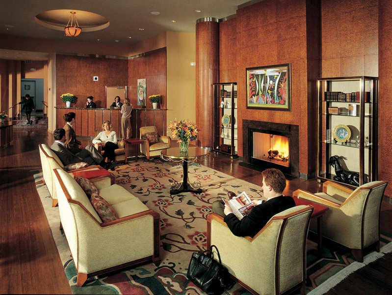 And its tasteful, art-deco lobby.