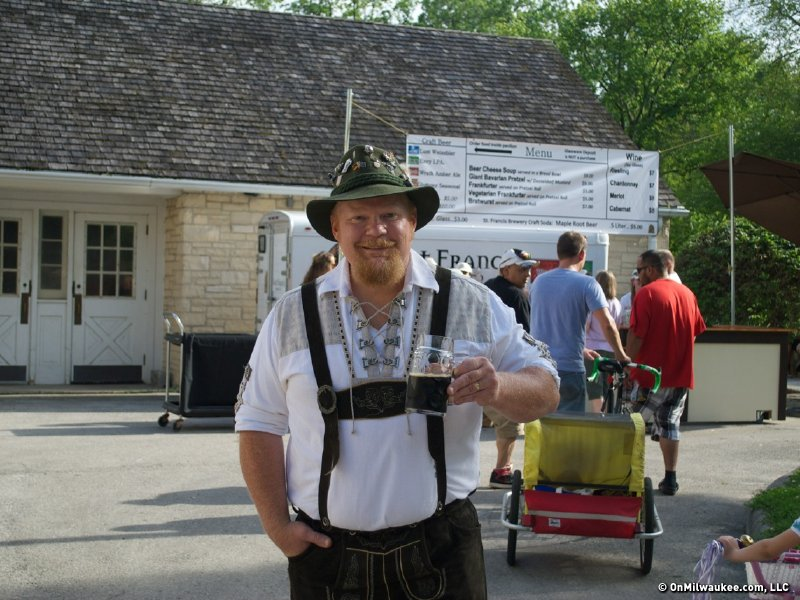 Brewmaster Scott Hettig. He already had the lederhosen.